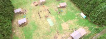 Vues aériennes du camp scout de la TSM de Wavre